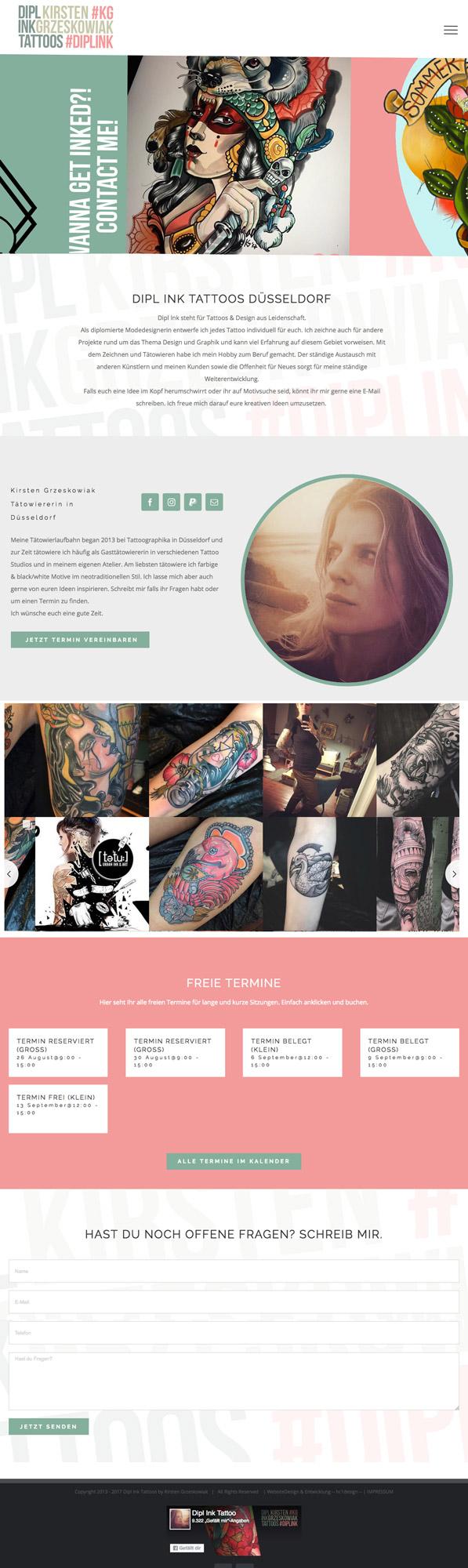1500€ Website von Kirsten