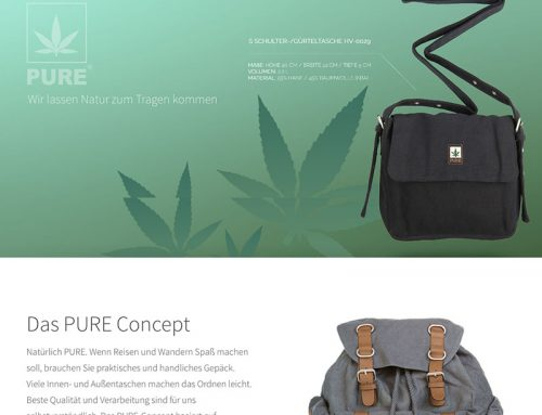 PURE Bags Website