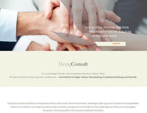 Website für HempConsult